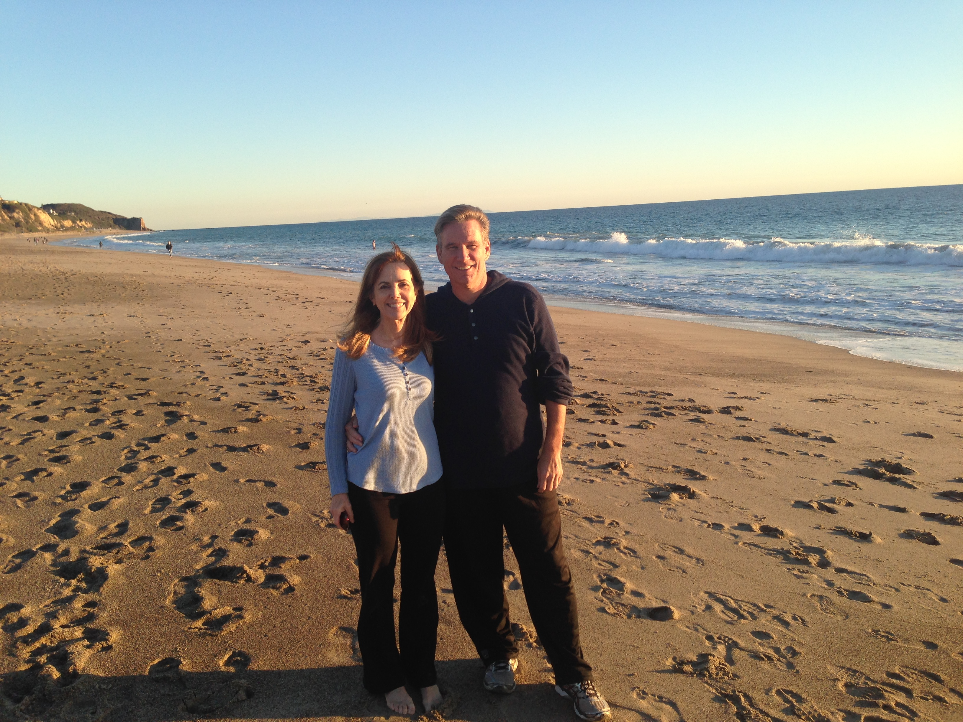 Ken and Bec at Malibu