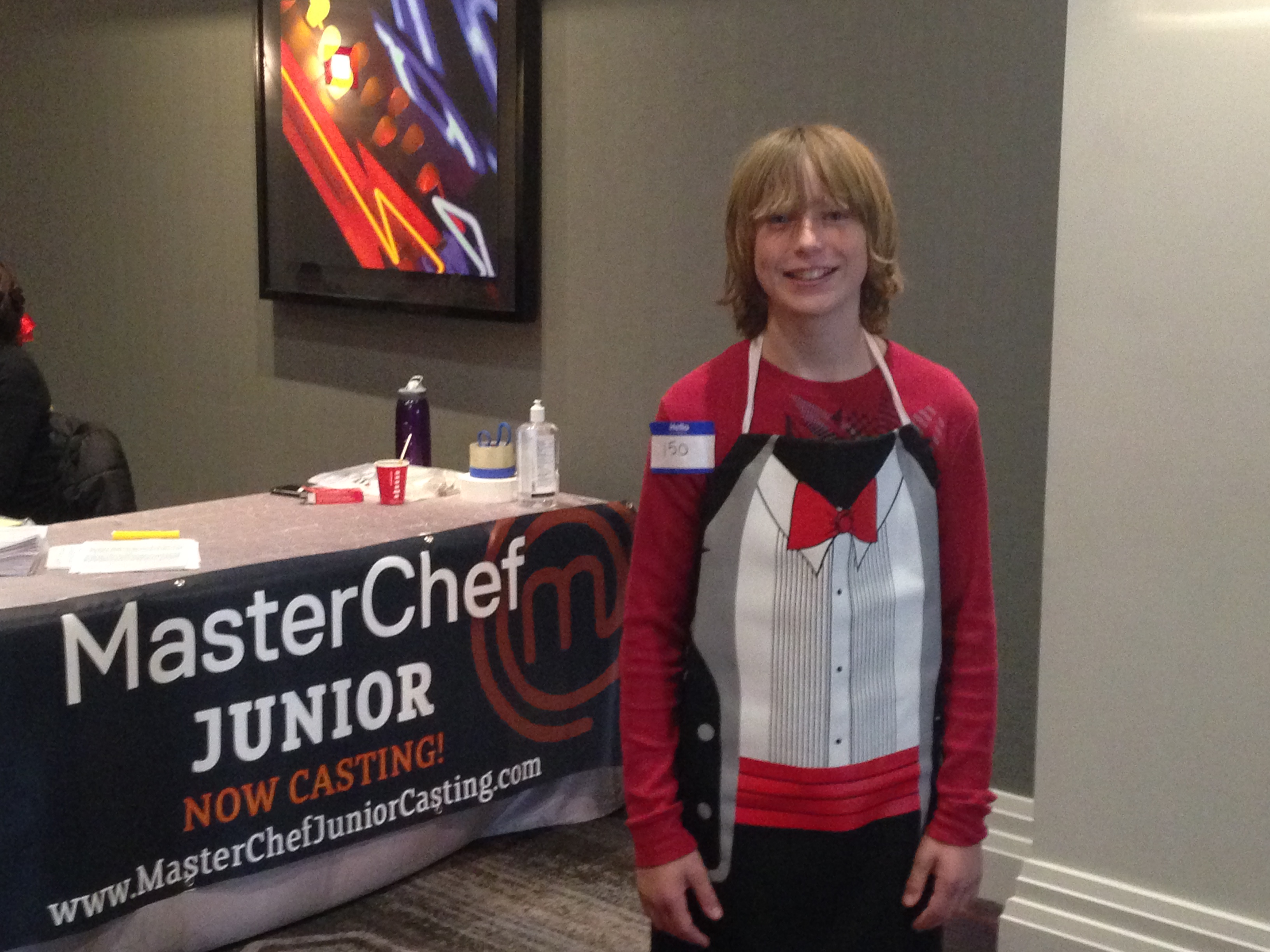 Zach at Master Chef Junior